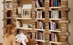 Regał z cegieł - pomysł na domową bibliotekę