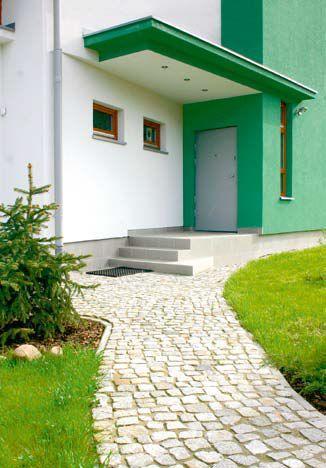 Daszek nad wejściem do domu