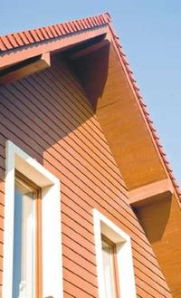 Podbitka dachowa imitująca deski