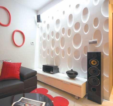Akcent dekoracyjny z paneli 3D