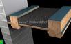 Montaż rusztu stalowego pod stropem drewnianym
