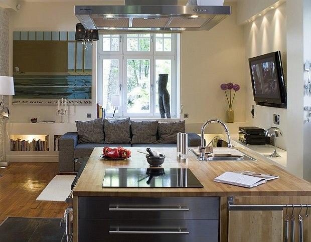 Wyspa w kuchni - blat kuchenny